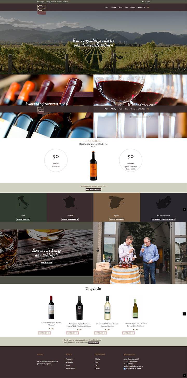 Wijnwinkel Barneveld homepage website