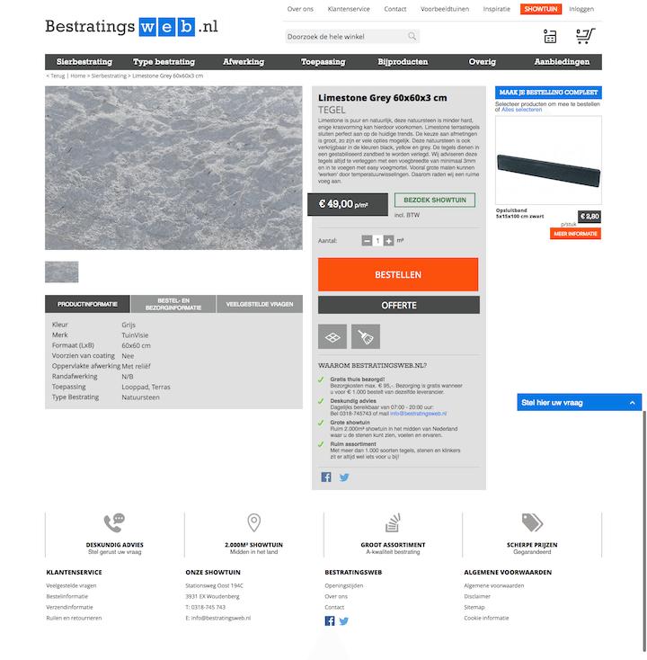 productpagina bestratingsweb