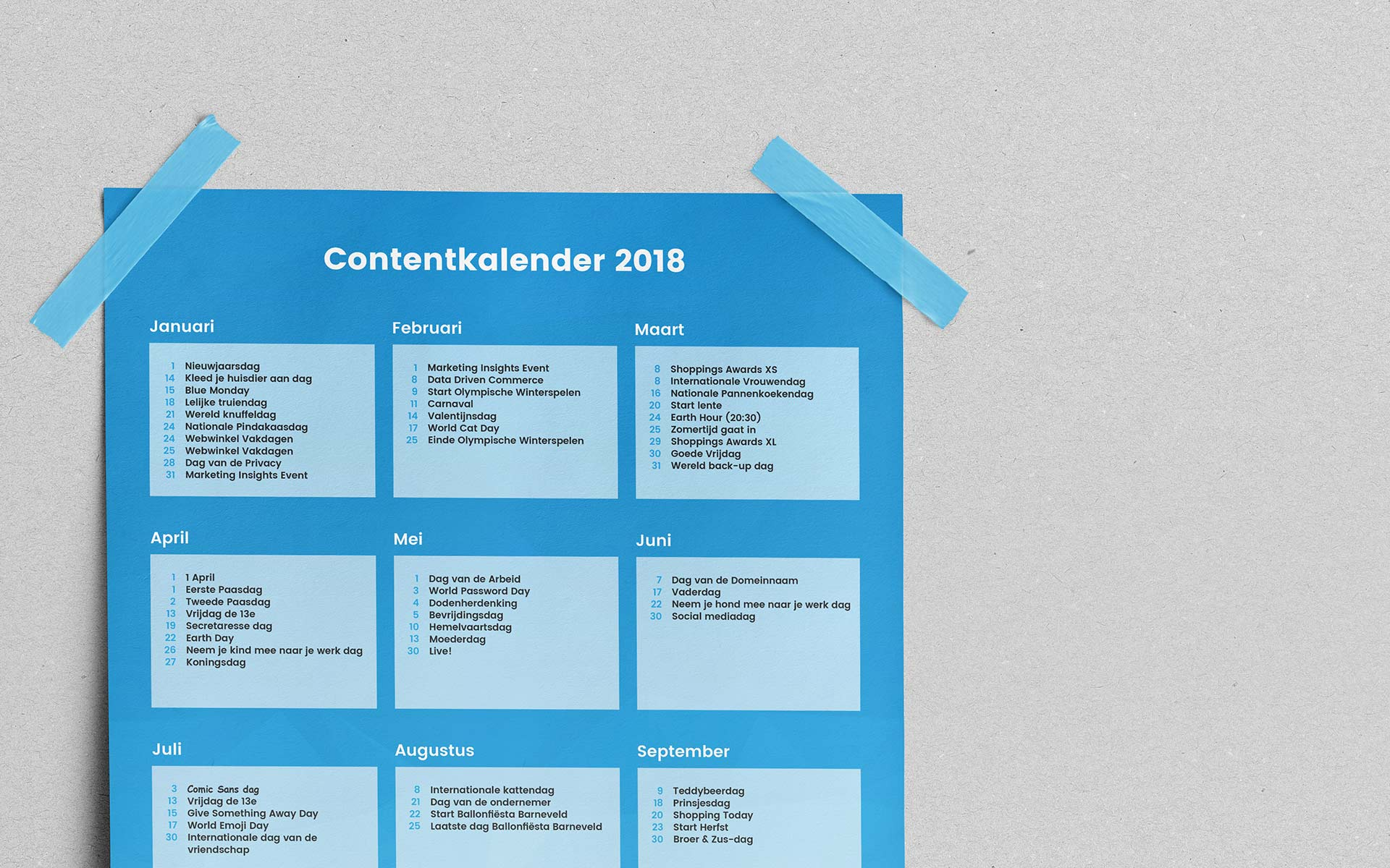 Deze contentkalender is voor jou
